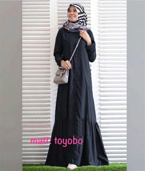 Toyobo Maxy busana muslim katun toyobo rayna maxi gamis modern