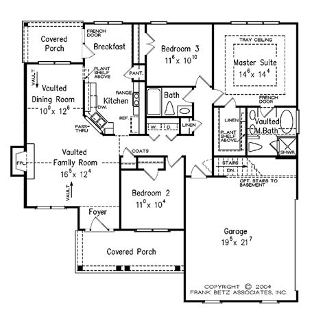home floor plans single level one level house plan