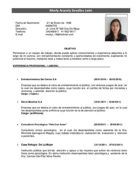 Modelo Curriculum Vitae Psicologo Curriculum
