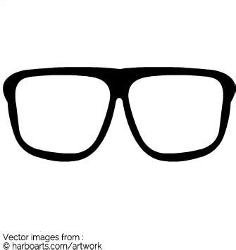 download hipster glasses vector graphic