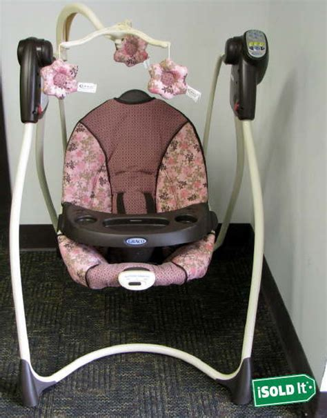 graco flower swing graco lovin hug girls baby infant swing quot libby quot reclining