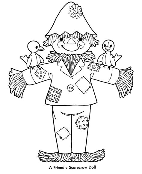 Printable Scarecrow Coloring Pages Coloring Home Scarecrow Color Page