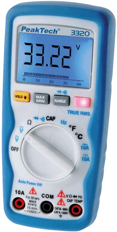 Multimeter Elektronik Peaktech 3320 Digital Handheld Multimeter At Reichelt Elektronik