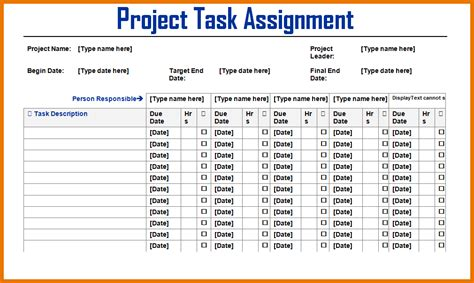 sle of project task list template pictures to pin on