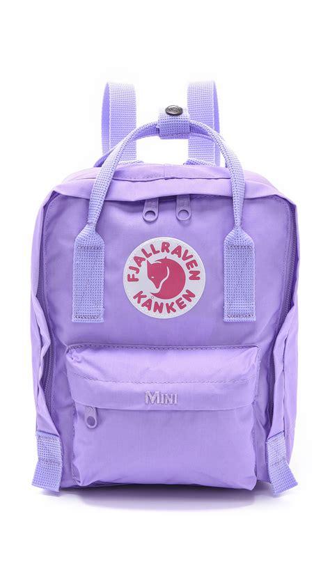 fjallraven kanken light purple fjallraven kanken mini backpack pink in purple