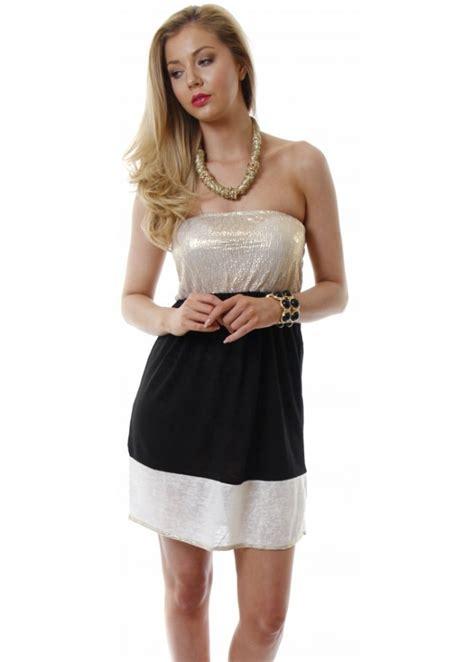 odemai black gold sparkly mini dress stretch fit