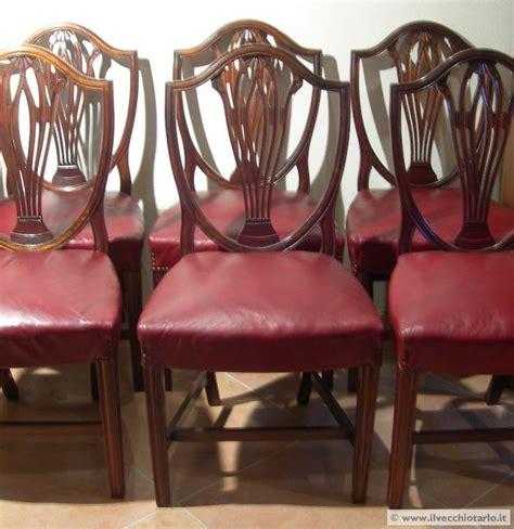 sedie stile inglese sedie 6 antiche inglesi vittoriane