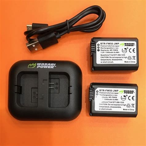 Baterai Wasabi jual beli wasabi power battery kit for sony np fw50
