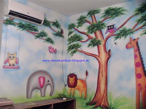 painting for free to play play school wall painting 3d painting school