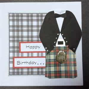 kilt outfit happy birthday card cards wedding cards handmade happy birthday cards