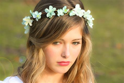 Wedding Hair Wreath Of Flowers bridal flower hair wedding accessories wedding headpiece
