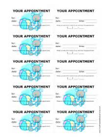 printable pediatrician appointment treatment reminder cards