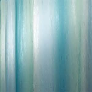 ombre print shower curtain in blue green 35804 the home