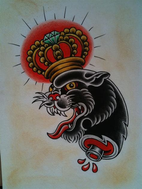 tattoo old school panther old school panther tattoo flash up for grabs by charlie