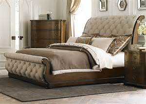 Upholstered Sleigh Bed King Cotswold King Upholstered Sleigh Bed From Liberty 545 Br Ksl Coleman Furniture