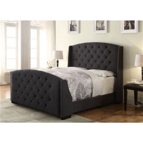 expanded queen headboard pri upholstered queen headboard and footboard in charcoal
