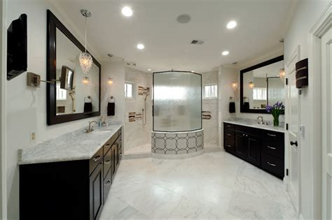 Master Bath   Walk Through Shower & Separate Vanities   Traditional   Bathroom   dc metro   by