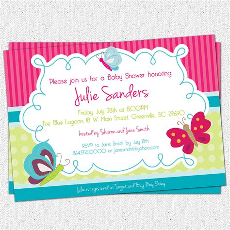 butterfly invitation template butterfly baby shower invitations templates invitations