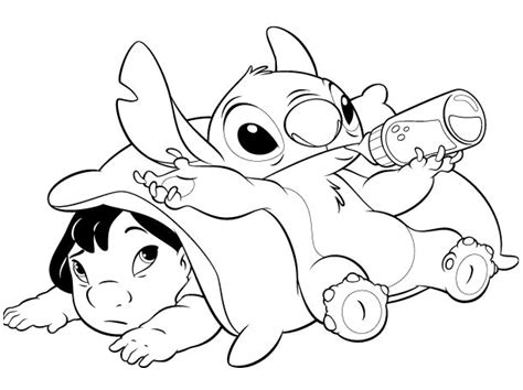 stitch and angel love coloring pages sketch coloring page