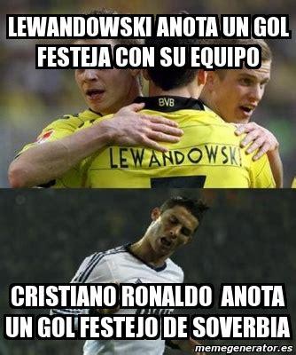 Lewandowski Memes - meme personalizado lewandowski anota un gol festeja con