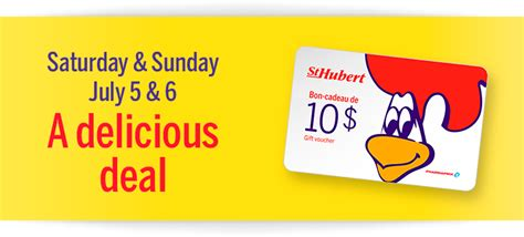 St Hubert Gift Card - pharmaprix get a 10 st hubert gift card when you spend 50 july 5 6 canadian