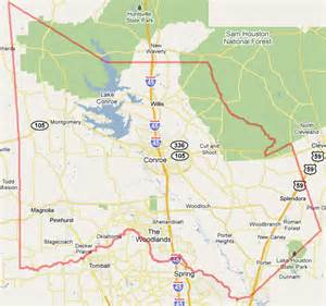 montgomery county tx map the woodlands