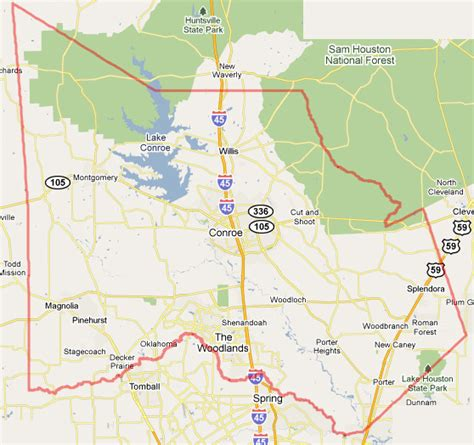 Montgomery County Tx Search Related Keywords Suggestions For Montgomery County Map