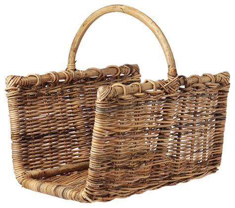 rectangular log basket traditional firewood racks by