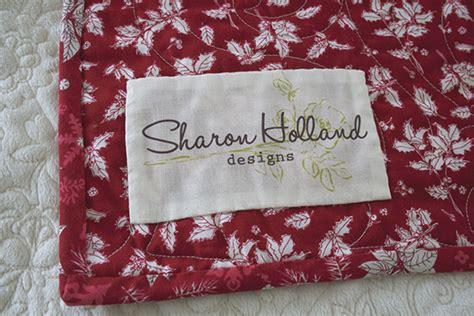 design a quilt label quilt labels sharon holland designs