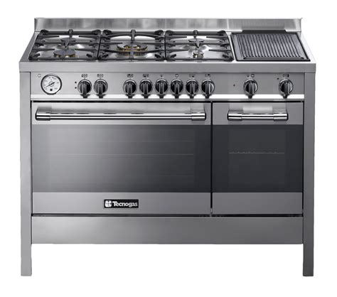 Oven Gas Tecnogas tecnogas gas electric stove s steel model p1x12ee5vc