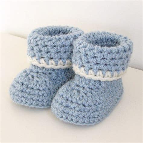 baby boy booties crochet pattern cozy cuffs baby booties folded cuff
