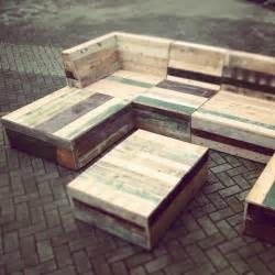 Recycled pallet garden furniture patio plans pinterest