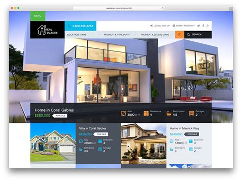 Homes Websites | 40 best real estate wordpress themes for agencies