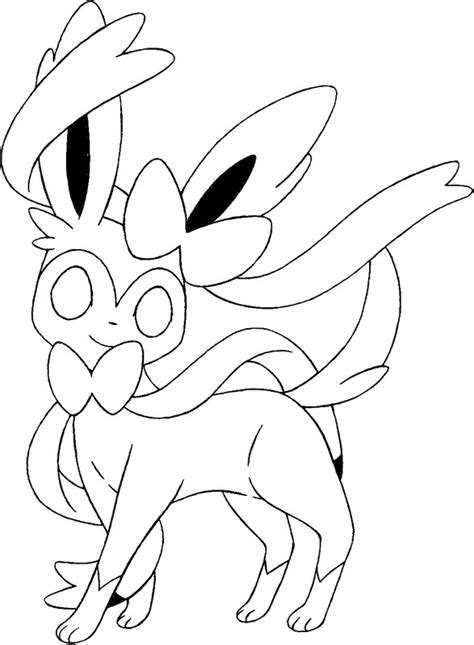Pokemon Coloring Pages Sylveon | coloring pages pokemon sylveon drawings pokemon