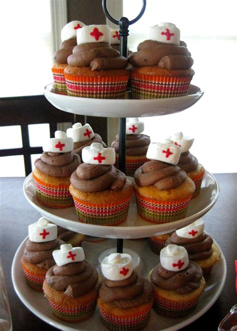 Nursing Cupcake Decorations by Hat Cupcakes Nursing School Graduation Ideas Graduation Graduation
