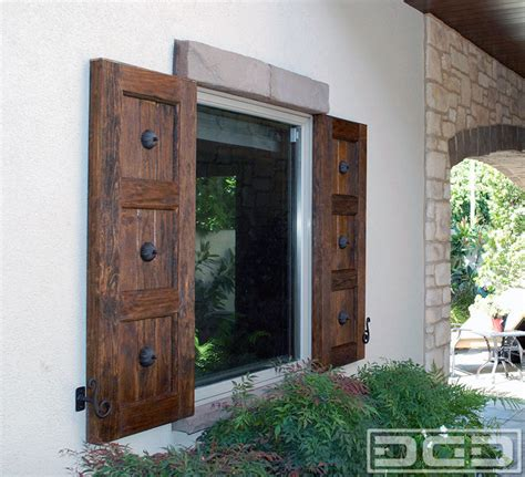 Pro Curb Appeal - custom spanish colonial shutters in newport beach ca decorative dummy hardware eclectic