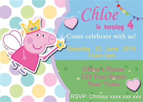 peppa pig fairy wand and sparkles digital party
