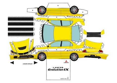 Papercraft Car Templates - 7 best images of papercraft printables cars disney cars
