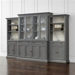 Entry Cabinet With Doors Four Gray Glass Door Wall Unit