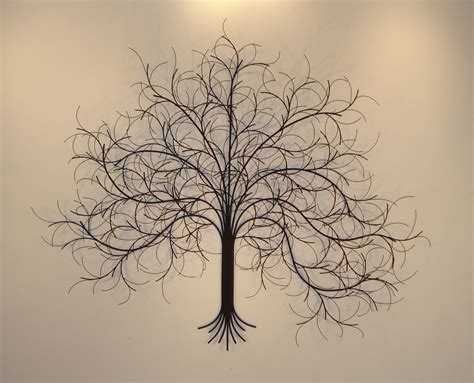 hanging art march tree metal wall art metal sculpture and wall decor