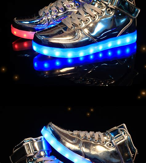 Harga Termurah Led Shoes Import led luminous neon casual shoes high glowing with charge lights up ebay