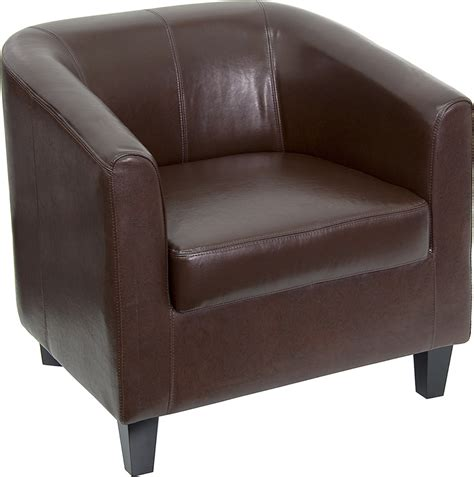 office guest chairs leather flash furniture brown leather office guest chair