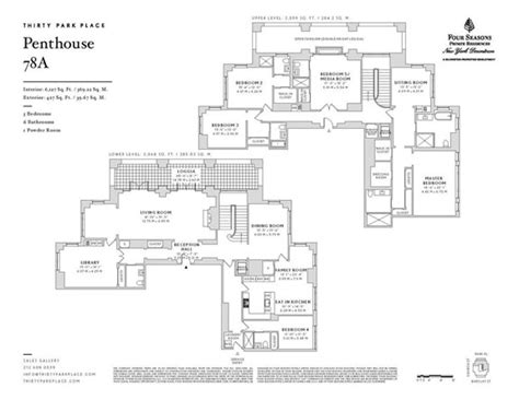 park place floor plans 30 park place penthouse four seasons downtown penthouse