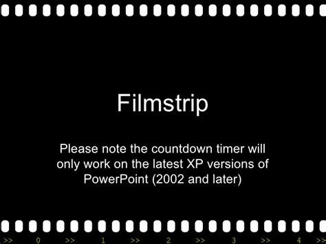 Filmstrip Powerpoint Template filmstrip with countdown