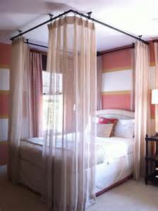bed with curtain frame best 25 curtains around bed ideas on