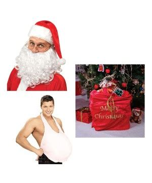 Kostum Santa Santa Costume 1 Set santa costume accessories set costumes