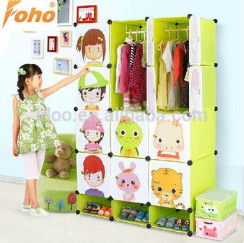 Lemari Plastik Foho large capacity portable bedroom wardrobe cabinet colorful