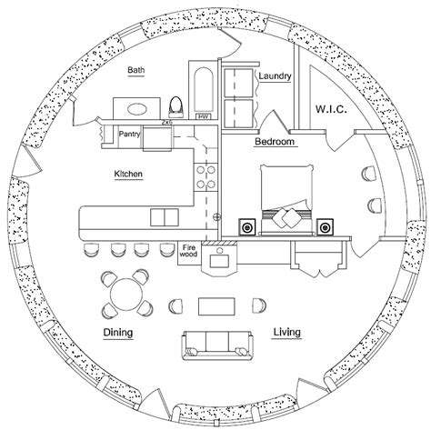 circular home floor plans round house straw bale house plans