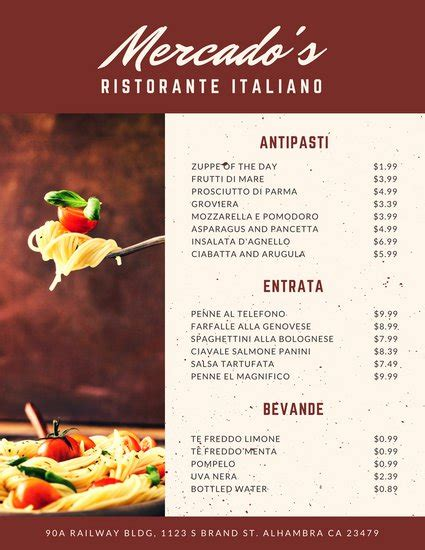 italian dinner menu card template customize 156 italian menu templates canva