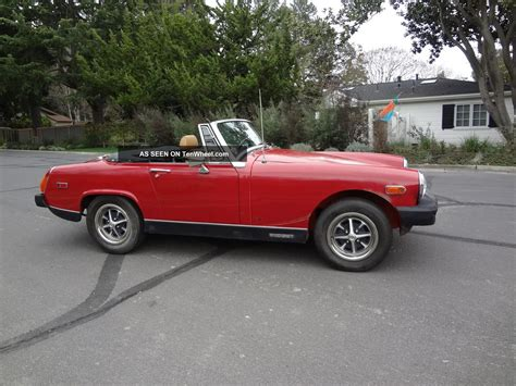vintage convertible 1978 mg vintage convertible rust runs drives